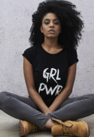 Tricou GRL PWR pentru Femei negru Mister Tee
