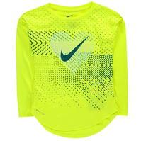 Tricou Nike Heart Geo LS pentru fete pentru Bebelusi