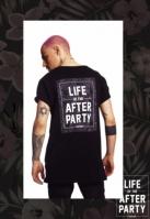 Tricou Hustler Afterparty negru Merchcode