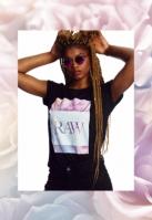 Tricou Hustler Raw pentru Femei negru Merchcode