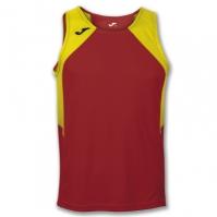 Mergi la Tricou jogging Record Joma rosu-galben fara maneci