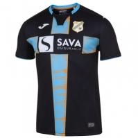Tricou Joma 2nd Rijeka negru-skyblue cu maneca scurta