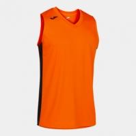Tricou Joma Cancha III portocaliu-negru fara maneci