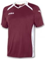 Tricouri Joma T- Champion II Burgundy-alb cu maneca scurta