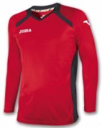 Tricou Joma Champion II rosu-negru cu maneca lunga
