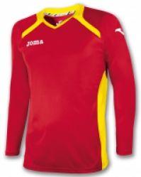 Tricou Joma Champion II rosu-galben cu maneca lunga