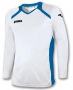 Tricou Joma Champion II alb-royal cu maneca lunga
