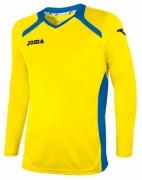Tricou Joma Champion II galben-royal cu maneca lunga
