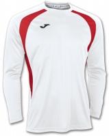 Tricou Joma Champion III alb-rosu cu maneca lunga