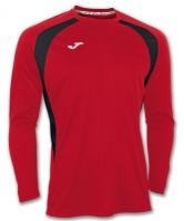 Tricou Joma Champion III Rojo-negro cu maneca lunga