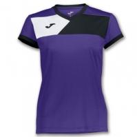 Mergi la Tricou Joma Crew II cu maneca scurta Purple-negru pentru Femei