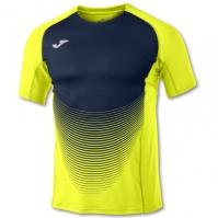 Tricouri Joma T- Elive Vi galben-bleumarin cu maneca scurta