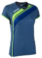 Tricouri sport Joma T- alergare albastru cu maneca scurta