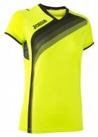 Tricouri sport Joma T- alergare Fluor galben cu maneca scurta