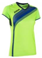 Tricouri sport Joma T- alergare Fluor verde cu maneca scurta