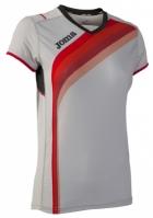 Tricouri sport Joma T- alergare gri cu maneca scurta