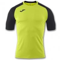 Tricou Joma Emotion II Lime-negru cu maneca scurta