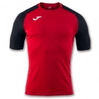 Tricou Joma Brama Emotion II rosu-negru cu maneca scurta