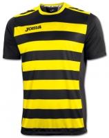 Tricouri Joma T- Europa II negru-galben cu maneca scurta