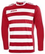 Tricou Joma Europa II rosu-alb cu maneca lunga