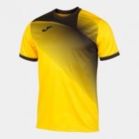 Tricou Joma Hispa II galben-negru cu maneca scurta