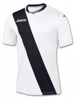 Tricou Joma Monarcas alb-negru cu maneca scurta