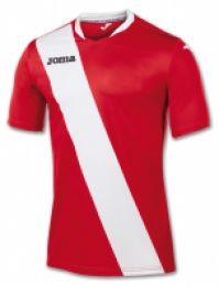 Tricou Joma Monarcas rosu-alb cu maneca scurta