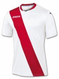 Tricou Joma Monarcas alb-rosu cu maneca scurta