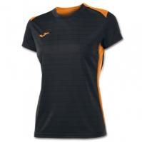 Tricouri sport Joma T- negru-orange cu maneca scurta
