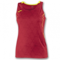 Tricou Joma Record II fara maneci rosu-galben pentru Femei