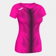 Tricou Joma Olimpia Fluor roz-negru cu maneca scurta pentru Femei