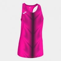 Tricou Joma Olimpia Fluor roz-negru fara maneci pentru Femei