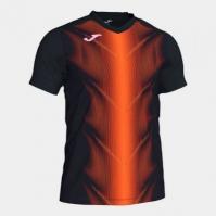 Tricou Joma Olimpia negru-portocaliu cu maneca scurta