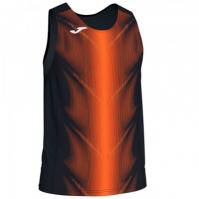 Tricou Joma Olimpia negru-portocaliu fara maneci