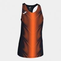 Tricou Joma Olimpia negru-portocaliu fara maneci pentru Femei