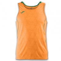 Tricou jogging Record Joma II Orange-verde fara maneci