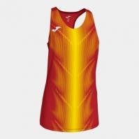 Tricou Joma Olimpia rosu-galben fara maneci pentru Femei