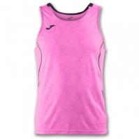 Tricou jogging Record Joma II roz-negru fara maneci