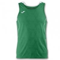 Tricou jogging Record Joma II verde-alb fara maneci