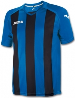Tricouri Joma T- Pisa 12 Royal-negru cu maneca scurta