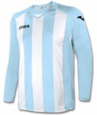 Tricou Joma Pisa 12 Sky albastru-alb cu maneca lunga