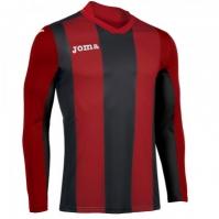 Tricou Joma Pisa V rosu-negru cu maneca lunga