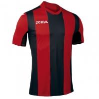 Tricou Joma Pisa V rosu-negru cu maneca scurta
