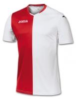 Tricou Joma Premier alb-rosu cu maneca scurta