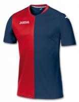 Tricou Joma Premier bleumarin-rosu cu maneca scurta