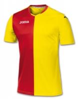 Tricou Joma Premier galben-rosu cu maneca scurta