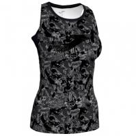 Tricou Joma Printed negru-anthracite fara maneci pentru Femei