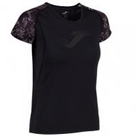 Tricou Joma Printed negru-anthracite cu maneca scurta pentru Femei