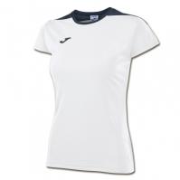 Tricouri sport Joma T- alergare alb cu maneca scurta