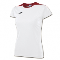 Tricouri sport Joma T- Spike alb-rosu cu maneca scurta